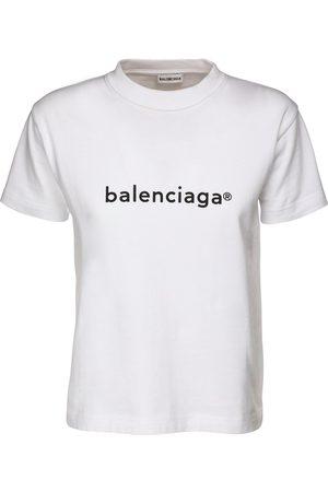 Balenciaga Logo Print Cotton Jersey T-shirt