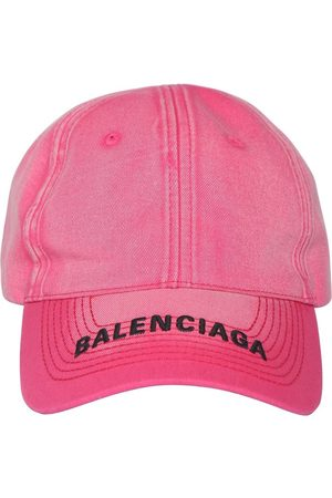 Balenciaga Logo Cotton Denim Baseball Hat
