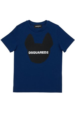 Dsquared2 Boys T-shirts - Ciro Logo Print Cotton Jersey T-shirt