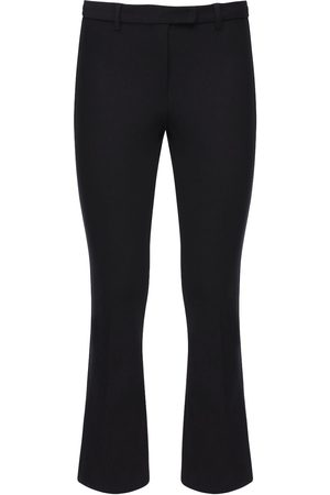 Max Mara Cropped Stretch Cotton Twill Pants