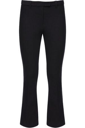 Max Mara Women Stretch Pants - Cropped Stretch Cotton Twill Pants