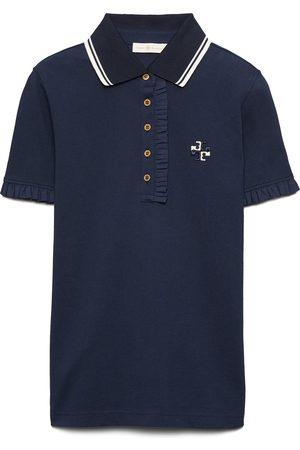 Tory Burch Women's Ruffle Cotton Pique Polo Shirt