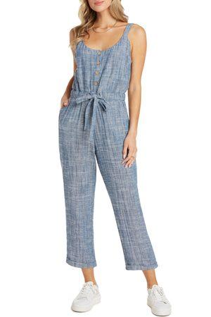 Willow Women's Ashley Tie Waist Crop Jumpsuit
