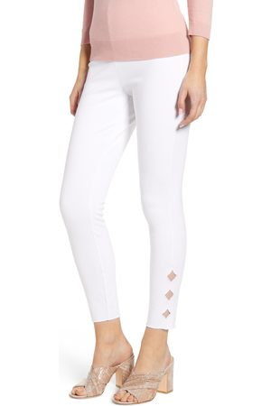 Lysse Women's Side Scallop Crop Denim Leggings