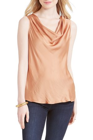 NIC+ZOE Women's Destination Crinkle Cowl Neck Top