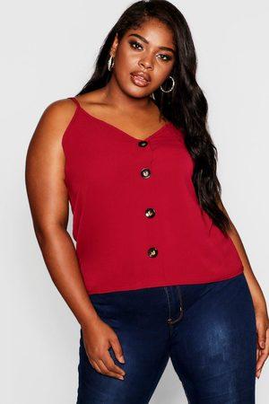Boohoo Womens Plus Button Detail Cami - - 12