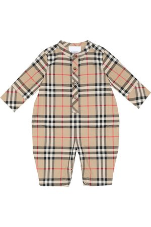 Burberry Pierre Vintage Check cotton onesie