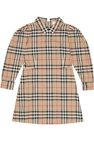 Burberry Checked cotton-poplin dress