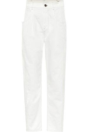 Brunello Cucinelli High-rise slim stretch-cotton jeans