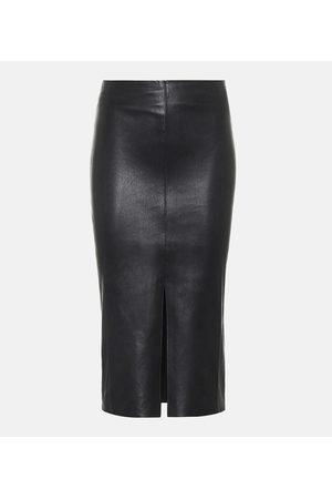 Stouls Ocean Drive leather midi skirt