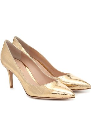 Gianvito Rossi Gianvito 70 croc-effect leather pumps
