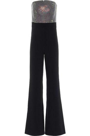 Safiyaa Embellished stretch-crêpe jumpsuit