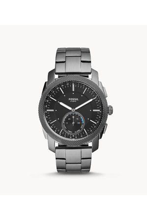 Fossil Hybrid Smartwatch - Machine Smoke Stainless Steel Ftw1166 Jewelry - FTW1166-WSI