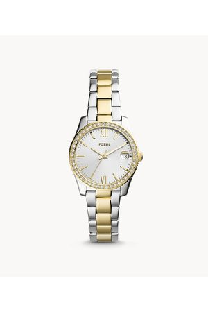 Fossil Scarlette Mini Three-Hand Date Two Tone Stainless Steel Watch Es4319 Jewelry - ES4319-WSI
