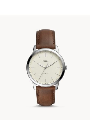 Fossil Men Watches - Men's The Minimalist Three-Hand Leather Watch