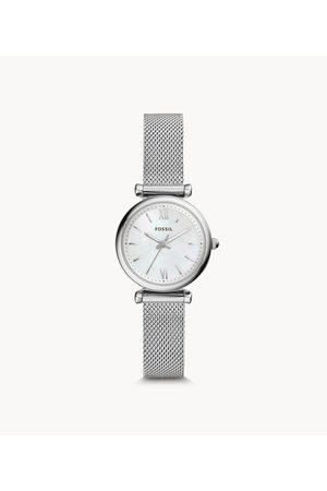 Fossil Carlie Mini Three-Hand Stainless Steel Watch Es4432 Jewelry - ES4432-WSI