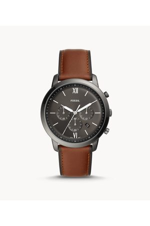 Fossil Men Watches - Men's Neutra Chronograph Amber Leather Watch