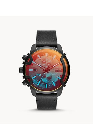 Diesel Men's Griffed Chronograph Leather Watch