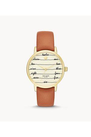 Kate Spade Women Watches - New York Metro Three-Hand Brown Leather Watch Ksw9019 Jewelry - KSW9019-WSI