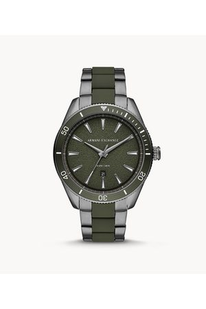 Armani Men Watches - Men's Three-Hand Date Two-Tone Stainless Steel Watch