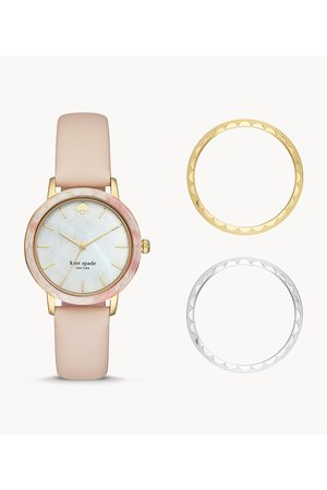 Kate Spade New York New York Morningside Three-Hand Scallop Interchangeable Topring Watch Ksw1520b Jewelry - KSW1520B-WSI