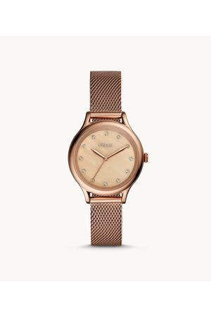 Fossil Laney Three-Hand Rose Gold-Tone Stainless Steel Watch Bq3392 Jewelry - BQ3392-WSI