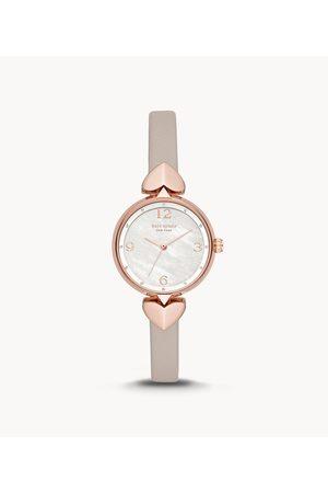 Kate Spade New York New York Hollis Three-Hand Matte Gray Leather Watch Ksw1548 Jewelry - KSW1548-WSI
