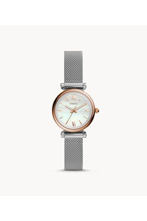 Fossil Women Watches - Carlie Mini Three-Hand Stainless Steel Watch Es4614 jewelry - ES4614-WSI
