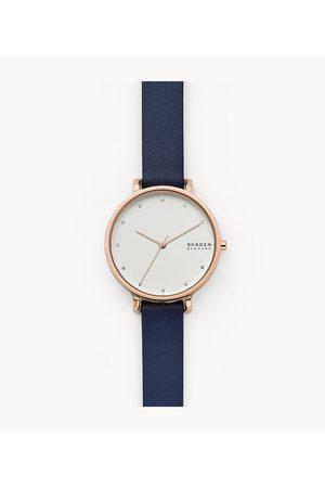 Skagen Women Watches - Hagen Three-Hand Blue Leather Watch Skw7207 Jewelry - SKW7207-WSI