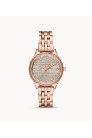 Michael Kors Lexington Three-Hand Rose Gold-Tone Stainless Steel Watch Mk6799 Jewelry - MK6799-WSI