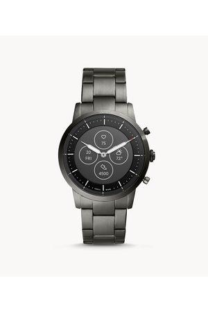 Fossil Hybrid Smartwatch Hr Collider Smoke Stainless Steel Ftw7009 jewelry - FTW7009-WSI