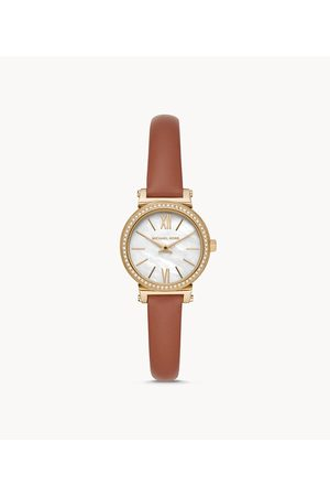 Michael Kors Petite Sofie Two-Hand Luggage Leather Watch Mk2896 Jewelry - MK2896-WSI