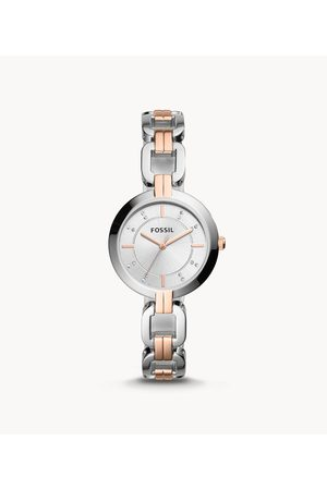 Fossil Kerrigan Three-Hand Two-Tone Stainless Steel Watch Bq3341 Jewelry - BQ3341-WSI
