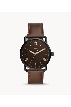 Fossil Men's Copeland 42Mm Three-Hand Leather Watch