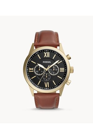 Fossil Men Watches - Men's Flynn Chronograph Leather Watch