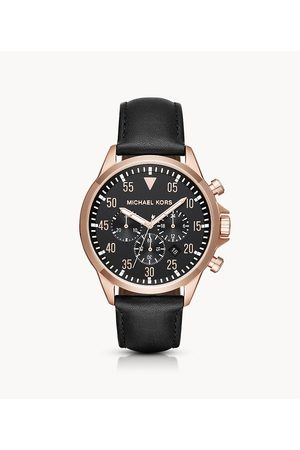 Michael Kors Gage Rose Gold-Tone And Leather Chronograph Watch Mk8535 Jewelry - MK8535-WSI