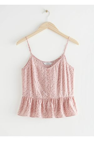 & OTHER STORIES Buttoned Jacquard Strap Top