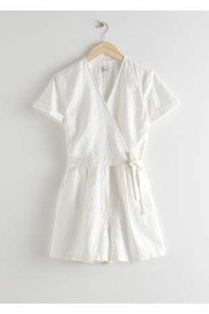 & OTHER STORIES Linen Blend Wrap Romper