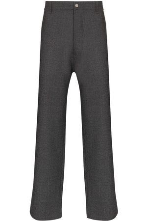 Maison Margiela Men Straight Leg Pants - High-waist straight-leg trousers - Grey