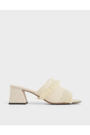 CHARLES & KEITH Woven Fabric Mules