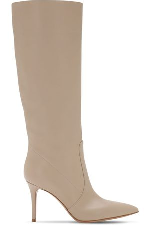 Gianvito Rossi Women Thigh High Boots - 85mm Slouch Leather Tall Boots