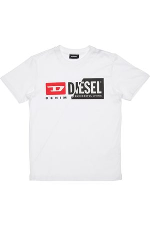 Diesel Boys T-shirts - Logo Print Cotton Jersey T-shirt