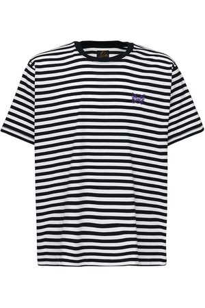 Pins & Needles Logo Embroidered Striped Jersey T-shirt