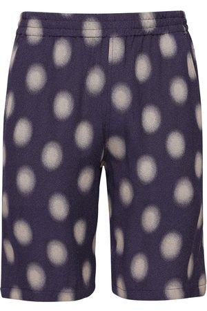 Pins & Needles Men Shorts - Poka Dot Cupro Blend Jacquard Shorts