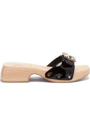 Roger Vivier Viv Patent-leather Clog Slides - Womens
