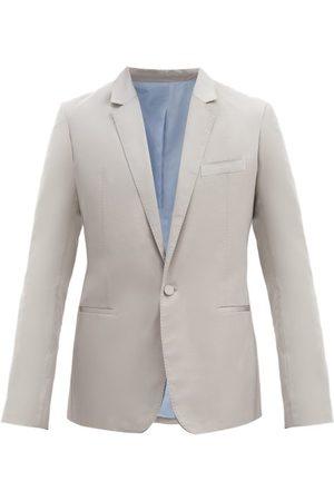 Haider Ackermann Single-breasted Silk-blend Jacket And Cummerbund - Mens - Grey