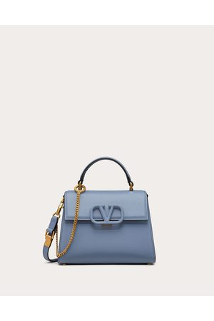 VALENTINO GARAVANI Small Vsling Grainy Calfskin Handbag Women Azure 100% Pelle Di Vitello - Bos Taurus OneSize