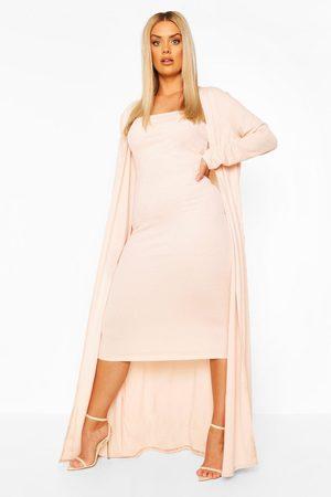 Boohoo Womens Plus Bandeau Dress And Duster - - 12