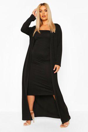 Boohoo Womens Plus Bandeau Dress & Duster Two-Piece - - 12