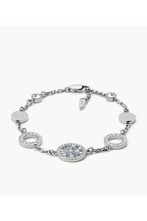 Fossil Women's Vintage Glitz Crystal Bracelet - / Silver